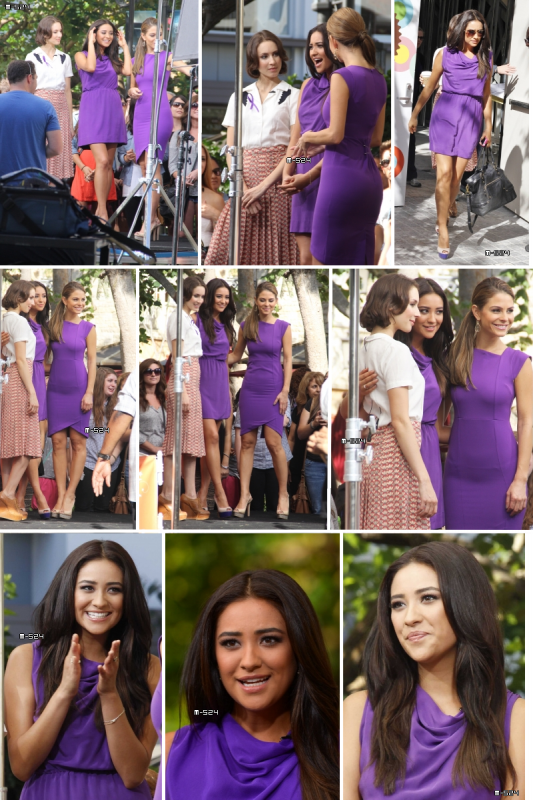 Candids du 19 octobre 2012 : Visit Extra At The Grove