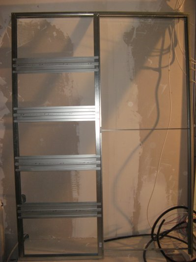 Montage du chassis pour la porte galandage l 39 atelier for Epaisseur cloison pour porte a galandage